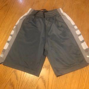 Nike Elite boys large gray shorts